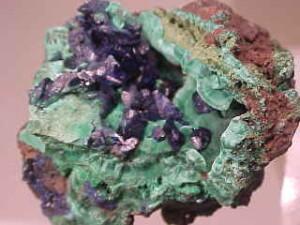 Azurite With Malachite - China